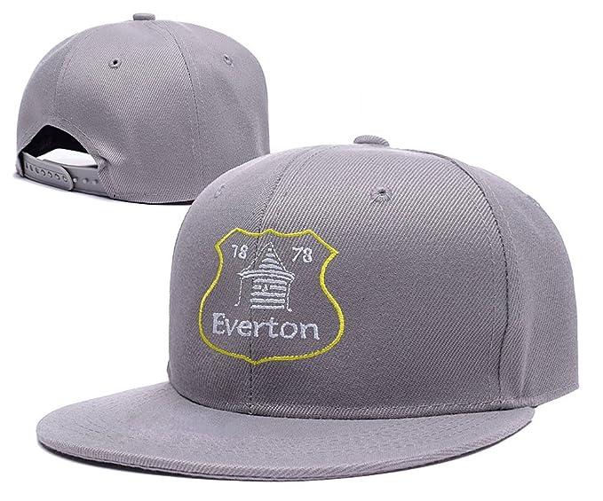 ZZZB Everton Football Club FC Logo Adjustable Snapback Caps Embroidery Hats  - Grey 06980d241680