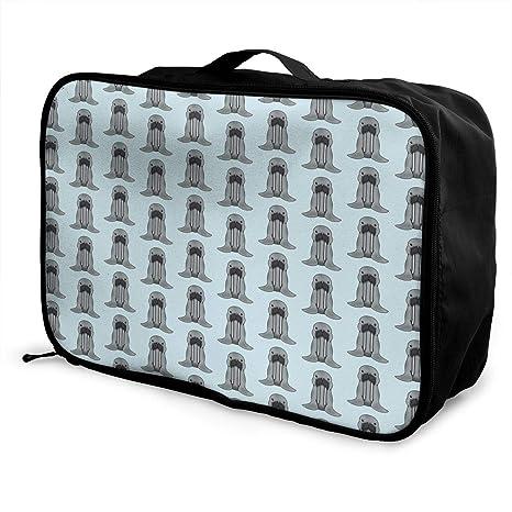 11238e3dbf9 Amazon.com  HUEH HUFW Women Walrus Chibi Travel Duffel Bag ...