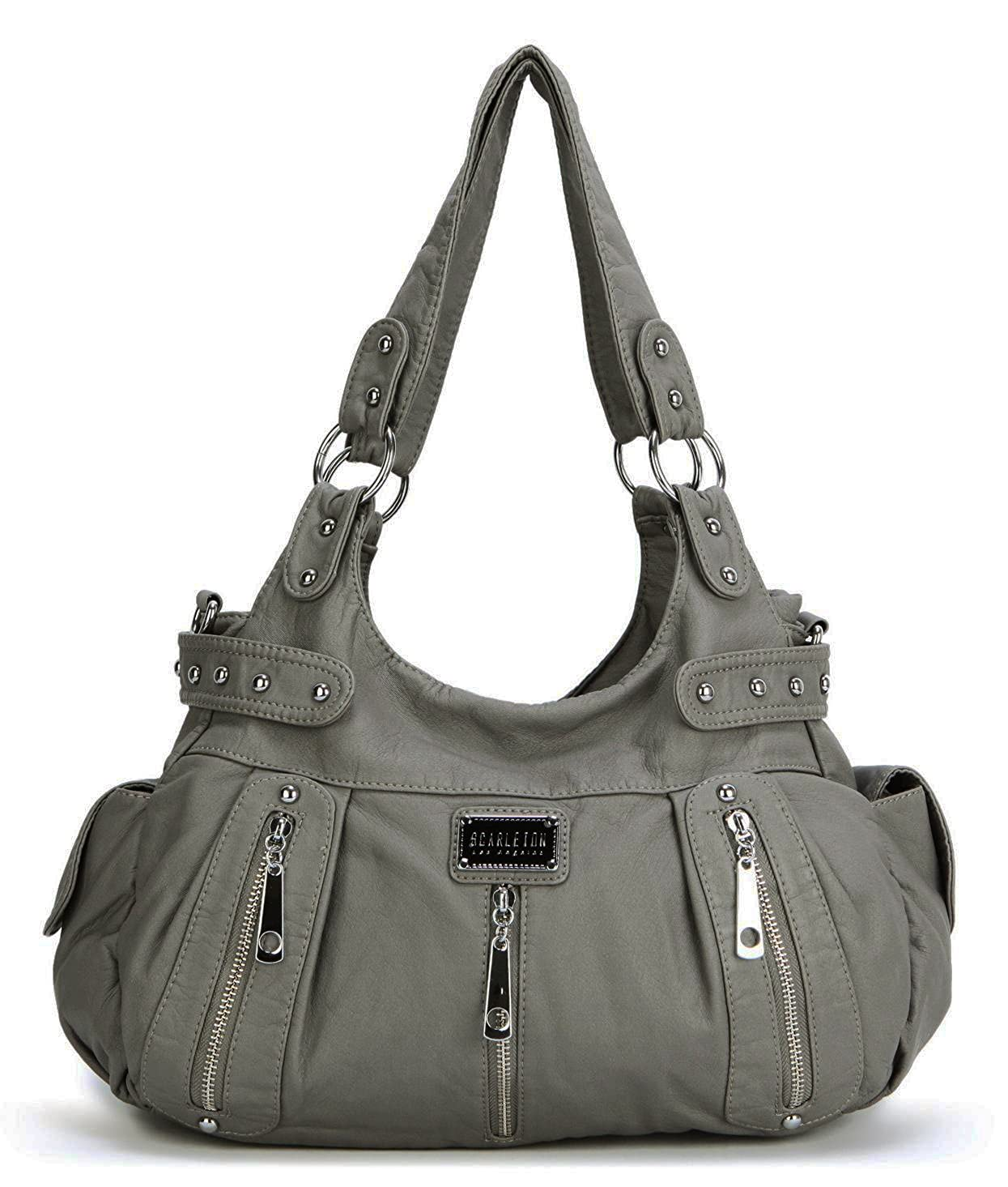 Scarleton 3 Front Zipper Washed Shoulder Bag H1292: Amazon.in: Clothing & Accessories