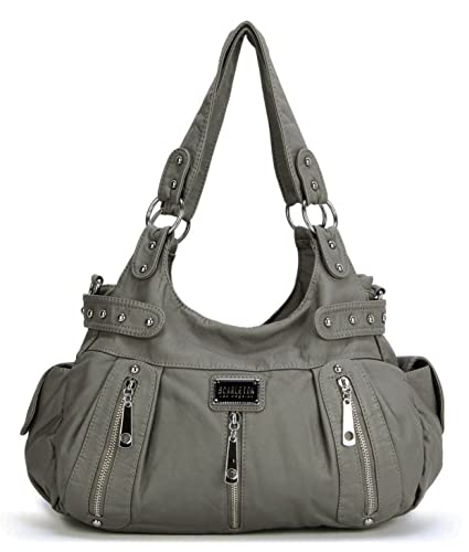 Scarleton 3 Front Zipper Washed Shoulder Bag H129224 - Ash ...