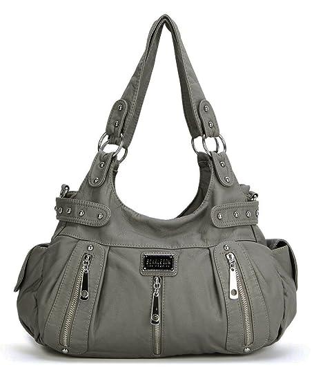 Amazon.com: Scarleton H1292 bolso lavado de hombro con 3 ...