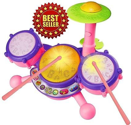 Amazon Com Vtech Kidibeats Pink Exclusive Drum Set Kids Music Girl