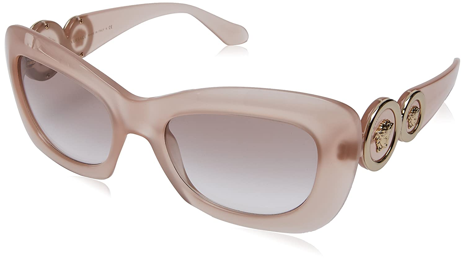 Versace Damen Sonnenbrille 0VE4328 521313, Gold (Opal Powder/Browngradient), 54