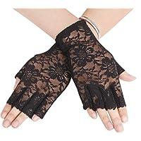 Afinder korte vingerloze kanten handschoenen dames halve vingerhandschoenen zomer kant zonwering handschoenen sexy…