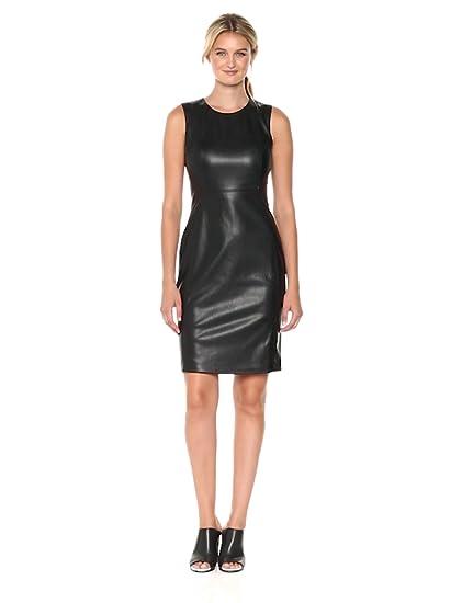 Sheath Women's Seam Dress Princess Calvin Sleeveless Textured Klein nmN8w0v
