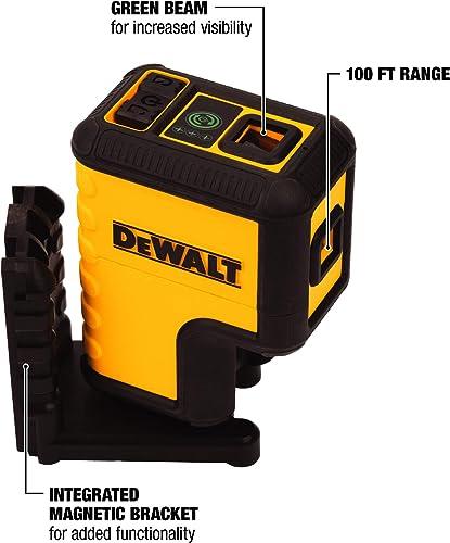 DEWALT DW08302CG Green 3 Spot Laser Level