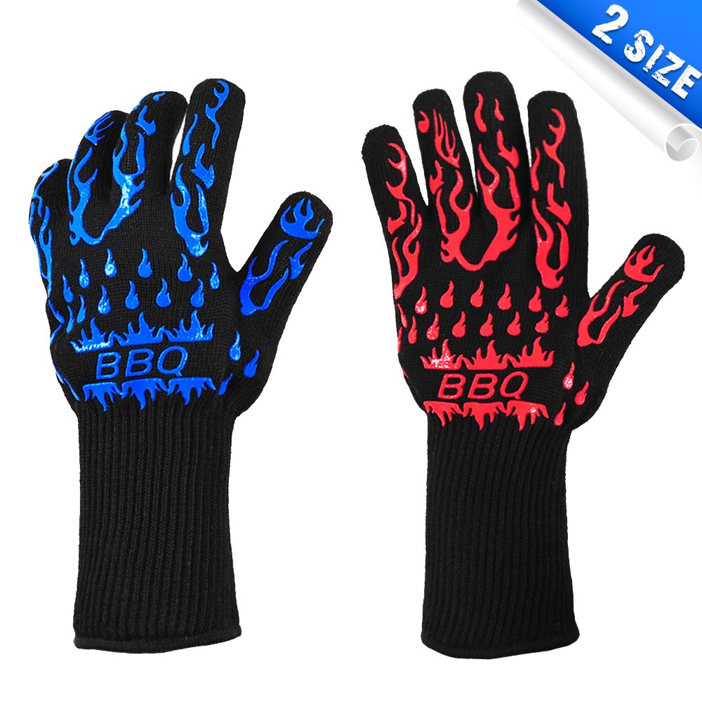 AshleyRiver BBQ Grill Gloves Extreme Heat Resistant oven gloves For Cooking, Grilling, Baking-13 inch 1 pair