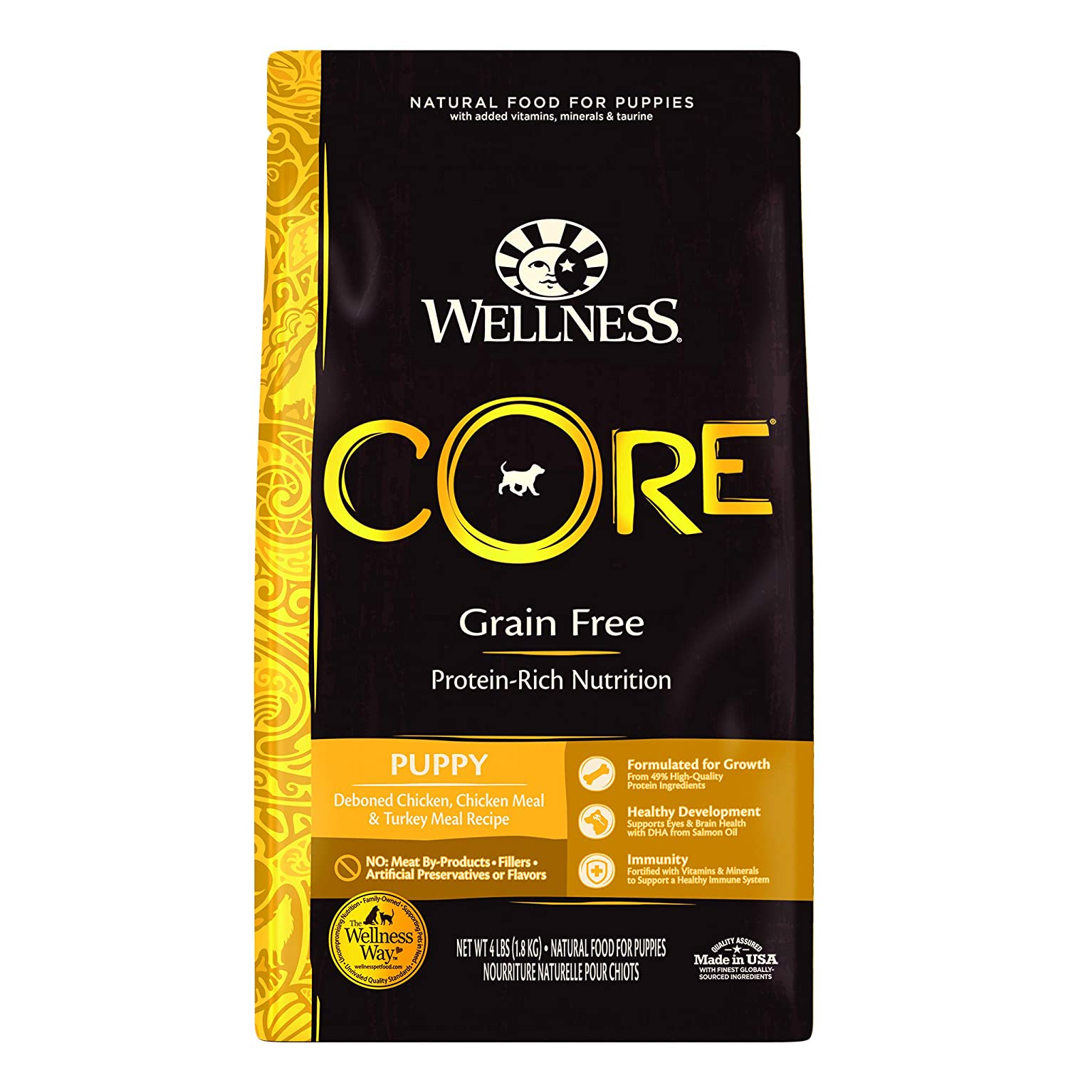 1.Wellness Core Natural Grain-Free Dry Dog for Boxer Puppy