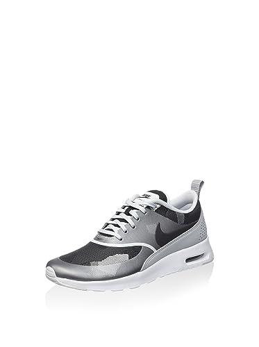 Nike Damen W Air Max Thea JCRD Low-Top Silberfarben/Schwarz/Grau 40 EU
