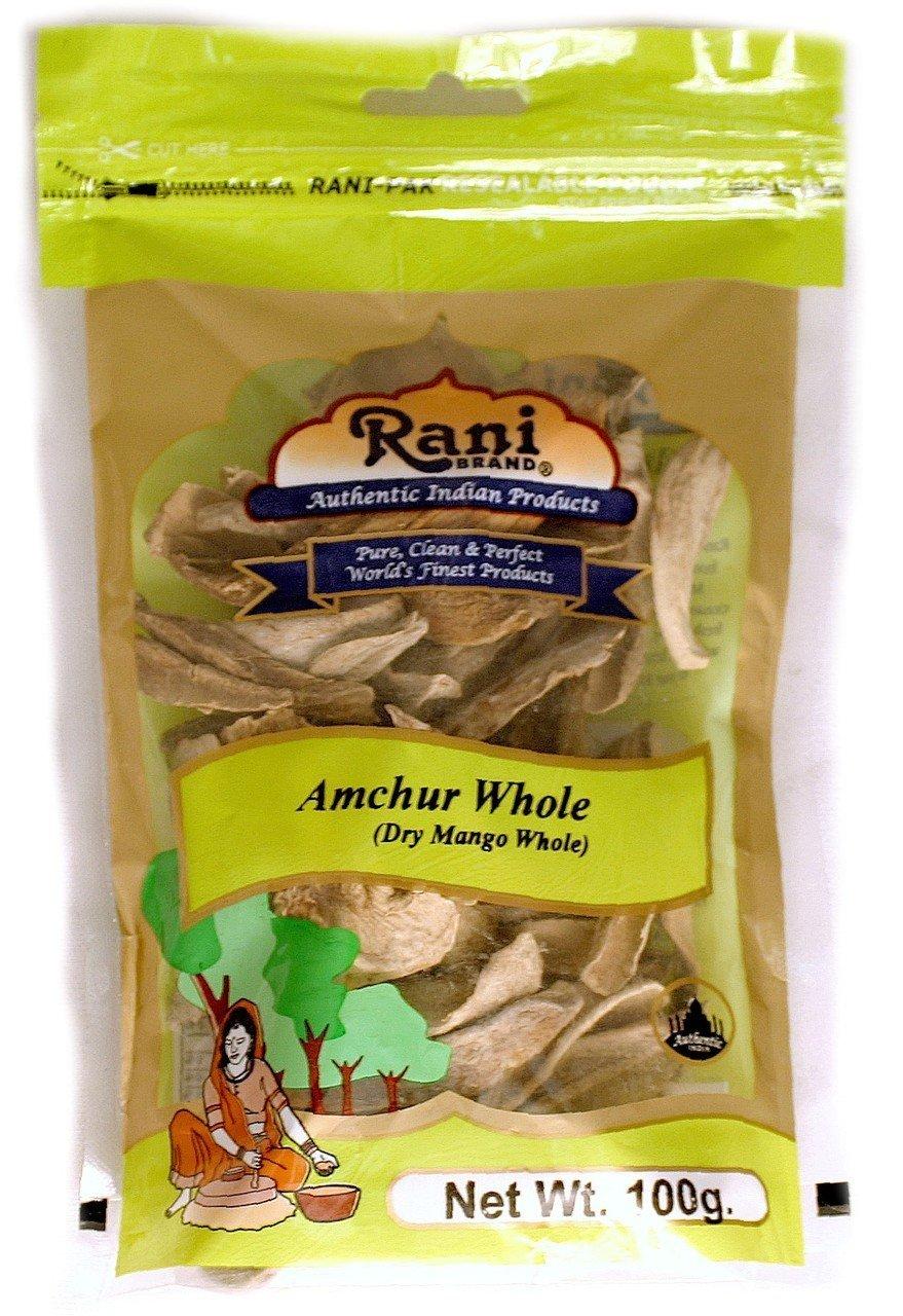 Rani Amchur (Mango) Dried Whole Slices Spice 3.5oz (100gm) ~ All Natural, Indian Origin | No Color | Gluten Free Ingredients | Vegan | NON-GMO | No Salt or fillers