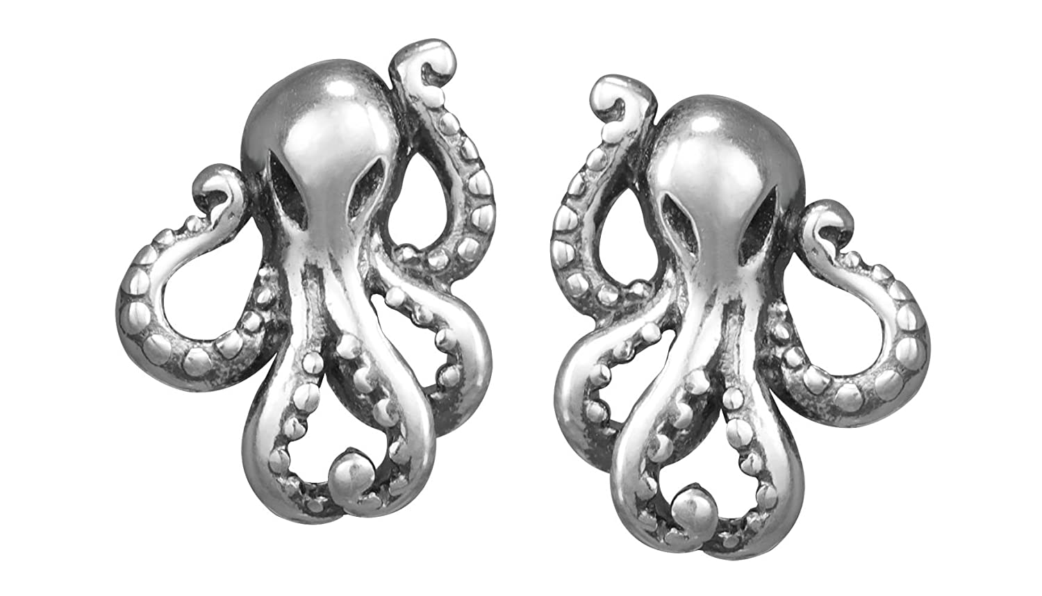 023f5fc2a9e68 Boma Jewelry Sterling Silver Octopus Stud Earrings
