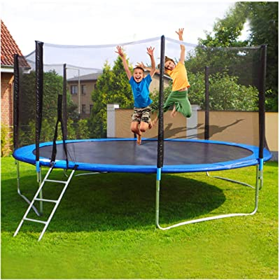 Lataw Trampoline 10 FT for Kids, Children Trampoline Set with Premium Enclosure Net Jumping Mat Ladder and Spring Cover Padding Indoor Outdoor Adults Bungee Jumping Bed for Backyard: Home & Kitchen