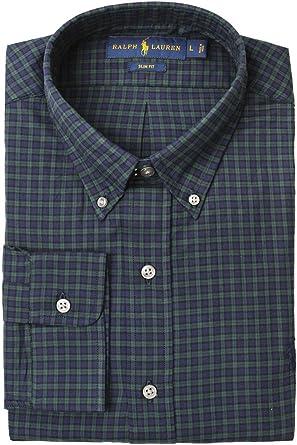 8bc535b34cfe Polo Ralph Lauren Men s Slim-Fit Checked Twill Shirt