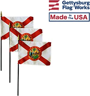 product image for 4x6 E-Gloss Florida Stick Flag - Flag Only - Qty 3