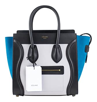 974368895e Amazon.com  Celine Multi-Color Leather Micro Luggage Shoulder ...