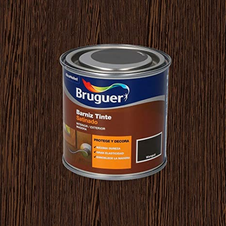 Bruguer Barniz Tinte Sat.BRUGUER WENGUE 250 ML, Negro: Amazon ...