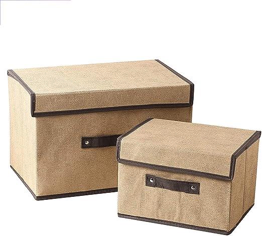 RANGSTOCKRR Juego de 2 Cajas de Almacenamiento, Cajas de Almacenamiento de Tela Plegable, Caja de Almacenamiento para gabinetes, Ropa, Libros, cosméticos, Juguetes, etc.: Amazon.es: Hogar