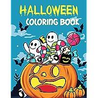 Halloween Coloring Book: A Fun Children Happy Halloween Coloring Book for Kids Ages 4-8, Toddlers and Preschool - Gift…