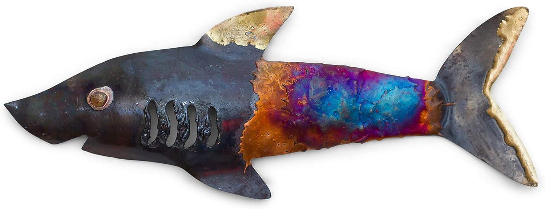 Tumia LAC Whale D/écoration Murale en m/étal recycl/é 15 cm Fait Main