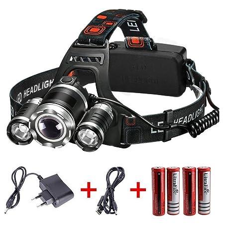 Frontale Et Modes LedRechargeable 4 Lampe 6000 3 Usb Course parfaite Phares Inclus À Pour 18650 Batteries Vtt Lumens Led CyclisteLa câble T6 roCWxdeQB
