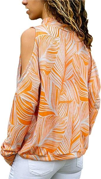 Camisetas Verano Mujer Blusa Mujer Manga Larga Originales Casual Cuello en V Básica Blusas MangaLarga Camisas Tallas Grandes Color Sólido Invierno Otoño Mujer Camiseta Corta(XL,naranja): Amazon.es: Bricolaje y herramientas