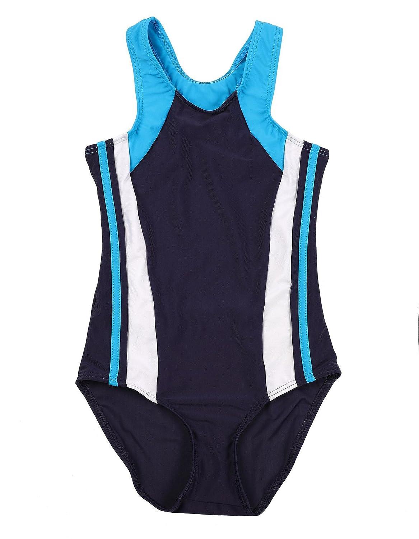 ALove Girls One Piece Swimsuit Cross Back Bathing Suit Kids Flower Swimwear