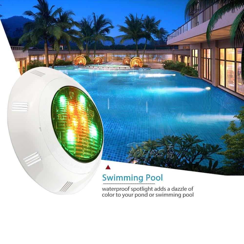 Lámpara de pared 12 LED luz subacuática de la piscina IP68 impermeable DC/AC12V RGB cambio de color multi para acuario, fuente, estanque, ...