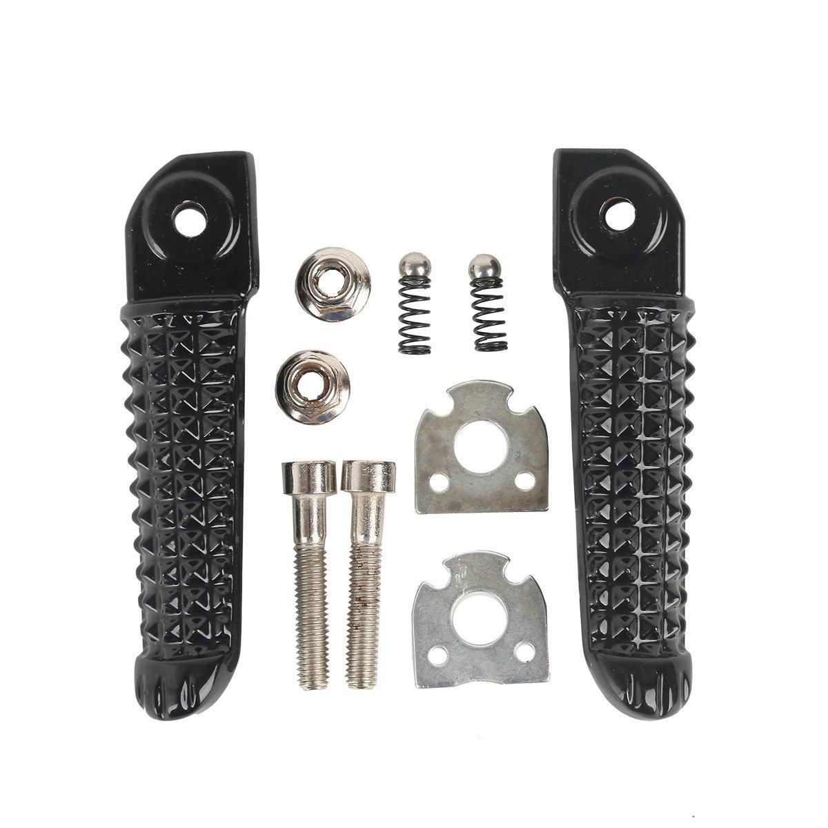 JFGRACING Moto Anteriori pedane poggiapiedi Pedali per Yamaha TDR125R FZ6/Fazer FZR600/SP XJ600/N S Diversion YZF 600/R6