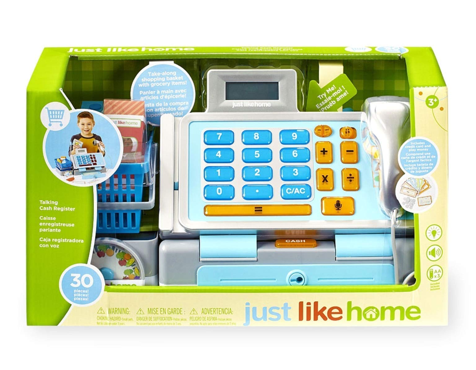 Toys R Us Just Like Home Talking Cash Register - Blue