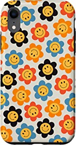 iPhone XR Smiley Face Indie Daisy Flower Power Retro Hippie Phone Case