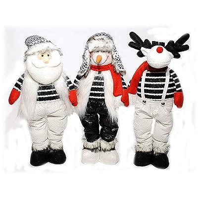 "Transpac Plush Adjustable 'Melting' Holiday Figures - Santa, Snowman, Reindeer - 24"" H: Home & Kitchen"