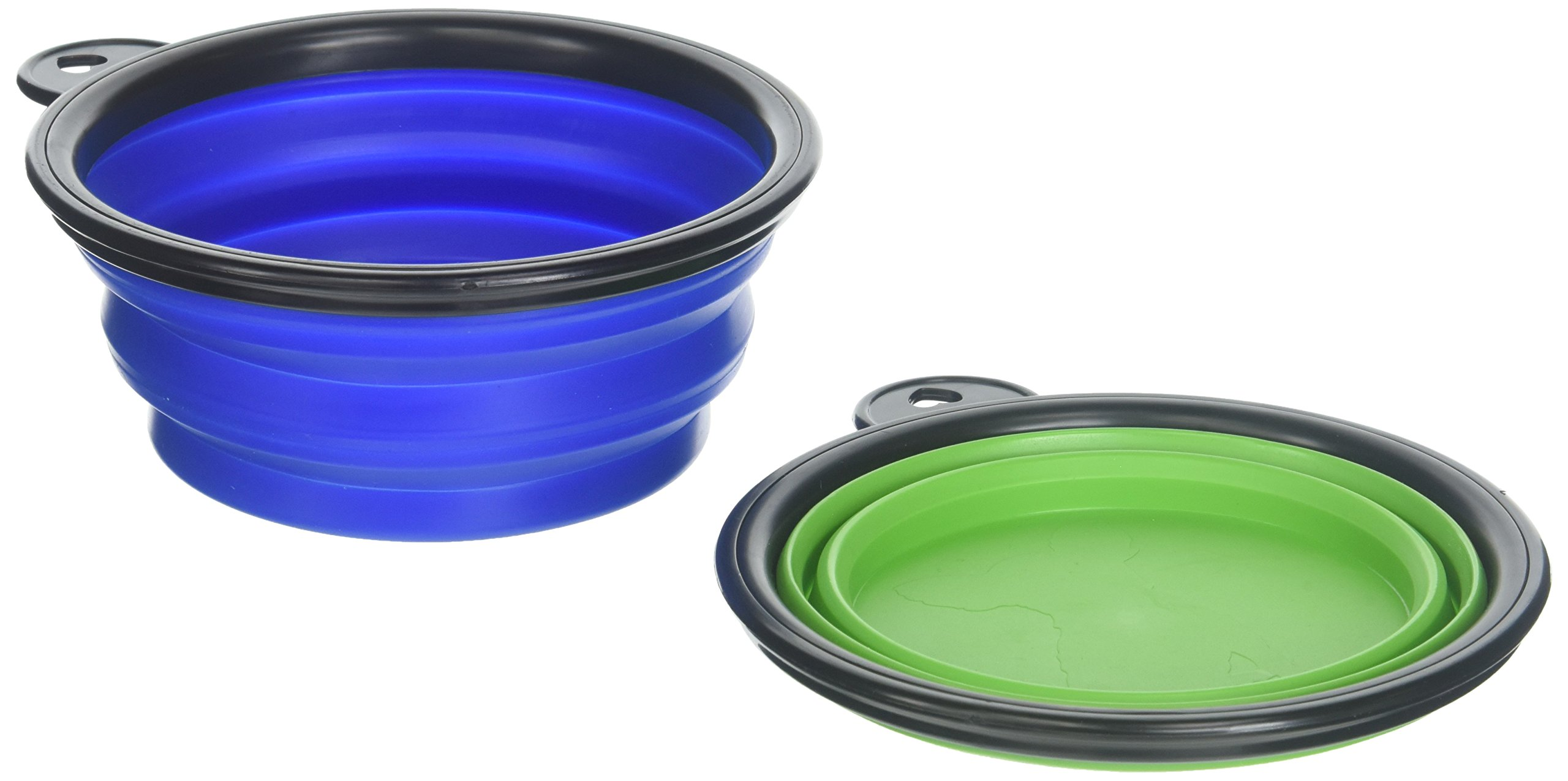 COCOPET Outdoor Pet Dog Silicone BPA Free Foldable Water Travel Bowl - 5.1 inches Retractable Travel Protable Water Cup Dish with a Metal Carabiner for Dogs & Cats