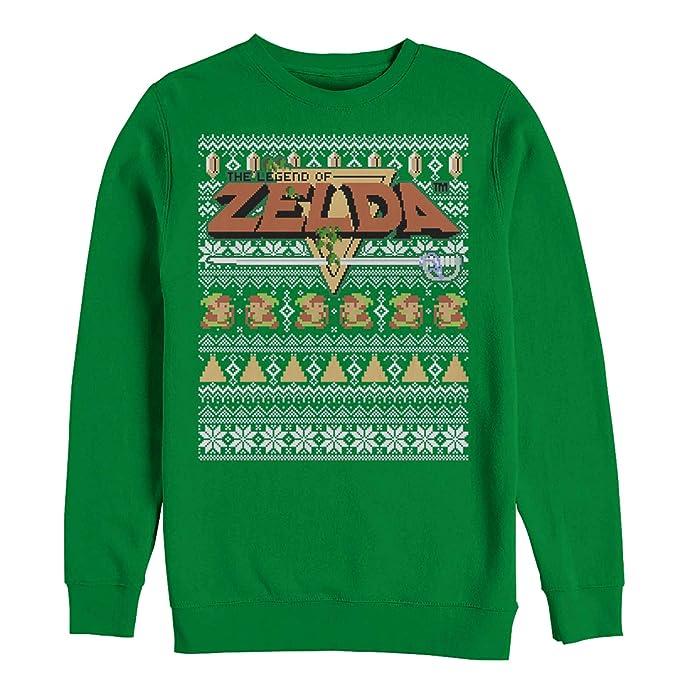 Nintendo Men\u0027s Legend of Zelda Ugly Christmas Sweater