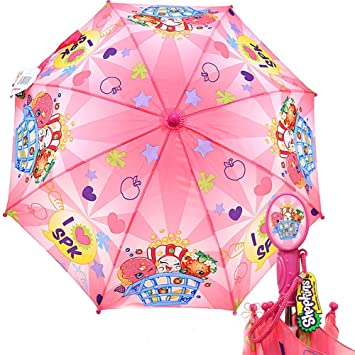 Shopkins Kids Umbrella Girls Parasol Paraguas - I Love SPK