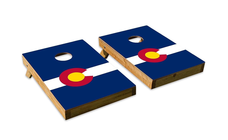 コロラド州旗デザイン – テールゲートCornholeボードセットwith 8バッグ B07DQH6N5X