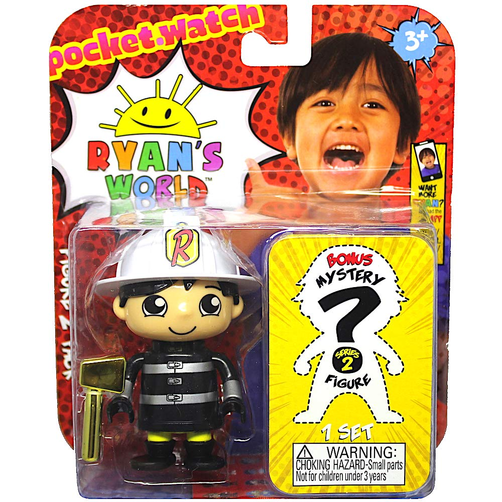 Fire Chief Ryan /& One Mystery Ryans World Action Figure Set 3