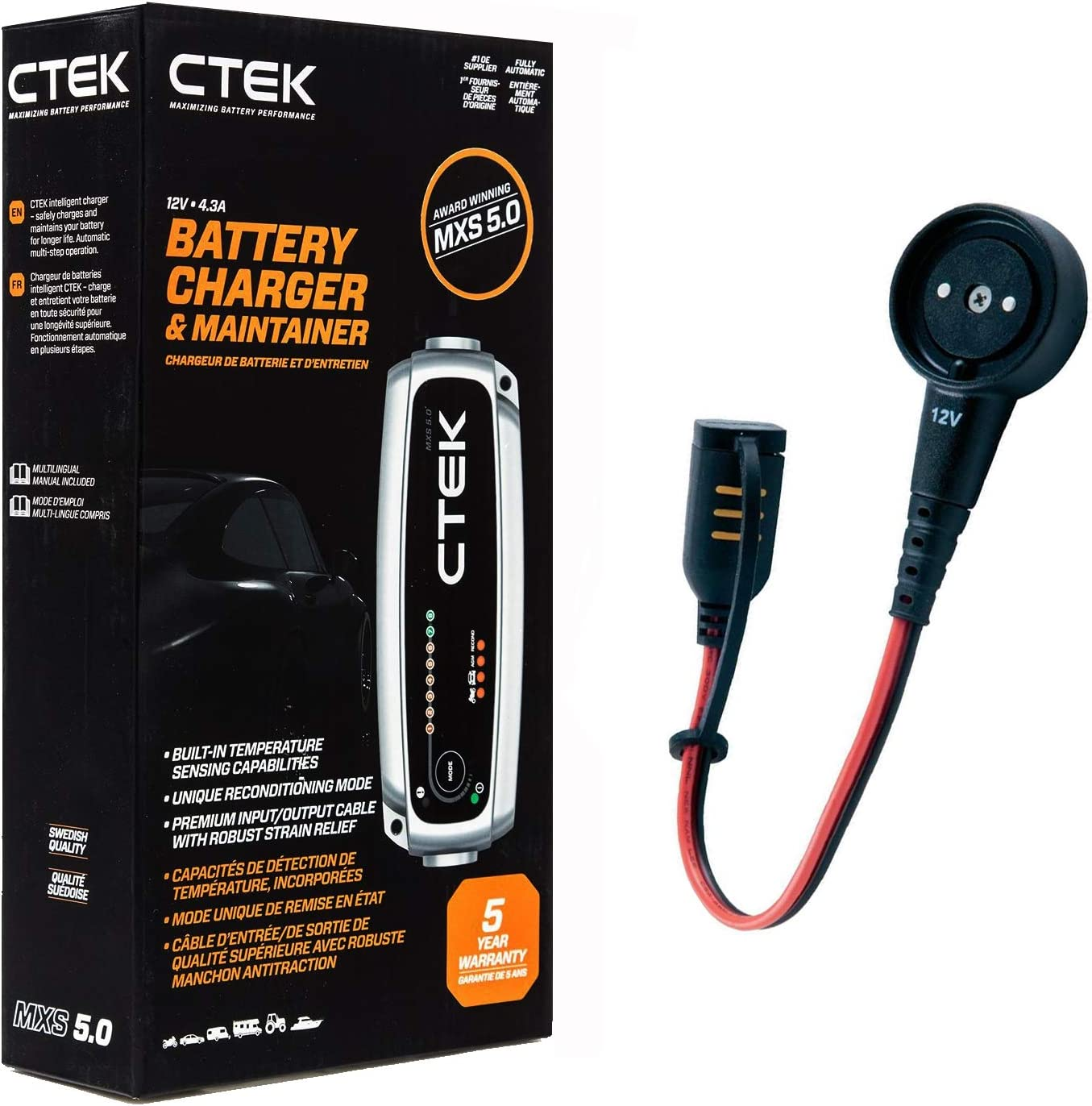 Juice Your Ride Battery Charger Tender Kit For Ferrari Portofino Includes Ctek 4 3a Charger Custom Adapter For Ferrari Without Indicator Batteries Accessories Amazon Canada