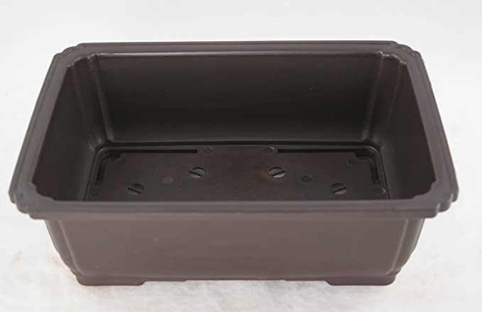 Exterior Dimensions 9 1//2 x 7 x 3 3//8 Superior To Plastic Wont break from freezing or dropping like clay Rectangle Mica Bonsai Training Pot earthenware or ceramic