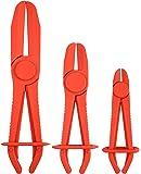 Motivx Tools 3pc Straight Jaw Hose Pinch Pliers Set