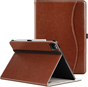 ZtotopCases Premium PU Leather Case for iPad Pro 12.9 Case 2021 5th Generation, Multiple Viewing Angles with Auto Sleep/Wake, Support iPad Pencil Charging for iPad Pro 12.9 Inch 2021 - Brown
