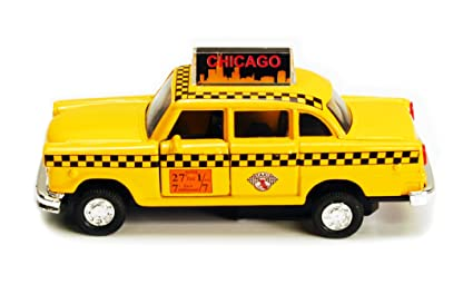 Checker Cab London >> Toylandbay Chicago Illinois Old Yellow Checker Taxi Cab 1 32 Scale Diecast Metal