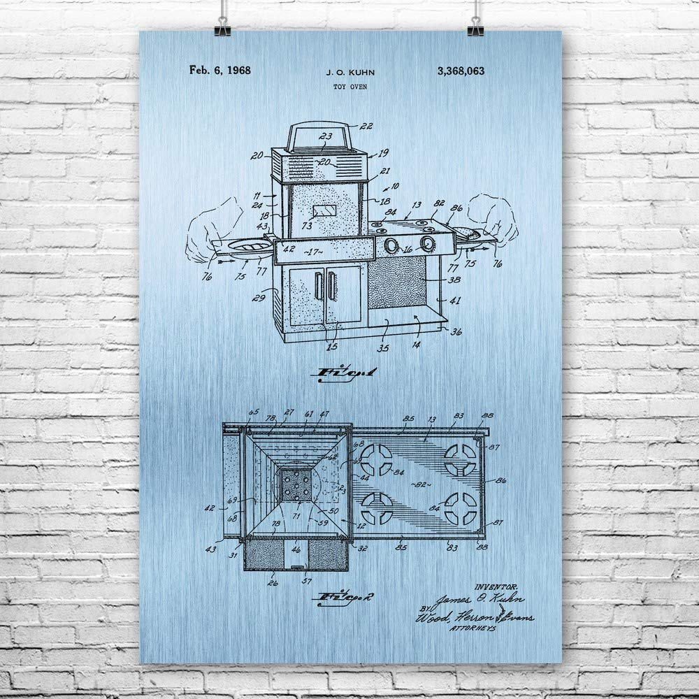 Patent Earth Easy Bake Oven Poster Print, Cooking Gift, Kitchen Decor, Toy Collector, Chef Gift, Vintage Cooking Toys, Playroom Decor