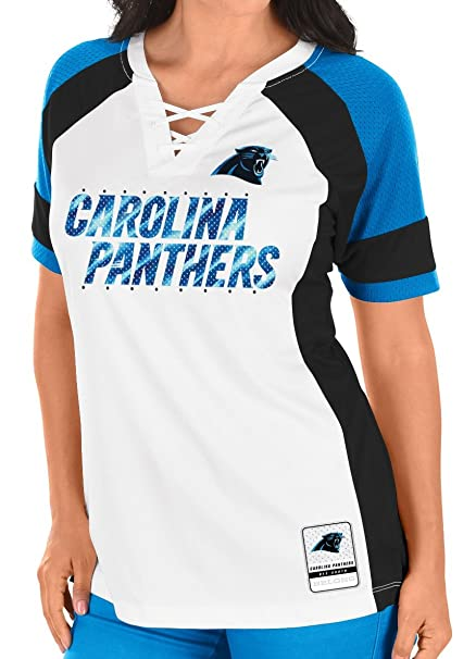 Image Unavailable. Image not available for. Color  Majestic Carolina  Panthers Women s NFL ... 9191b5a7ca