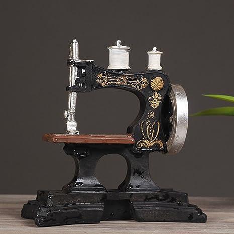 JJC Máquina de Coser Antigua Europea Adornos de Café Modelo de Resina Retro Tienda de Ropa