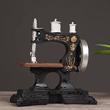 JJC Máquina de Coser Antigua Europea Adornos de Café Modelo de Resina Retro Tienda de Ropa Fotografía Decorativa Accesorios de la Foto,A: Amazon.es: Hogar