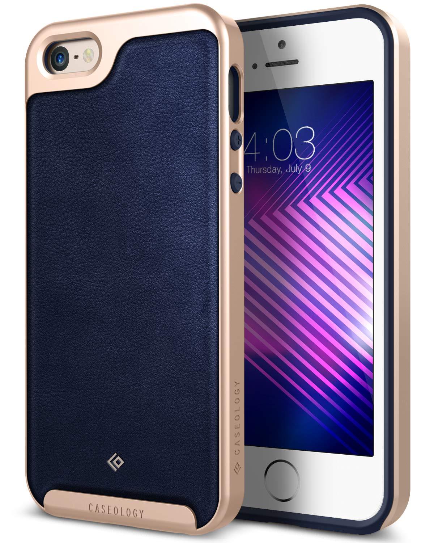 Caseology Envoy Funda para teléfono móvil Oro, Marina - Fundas para teléfonos móviles (Funda, Apple, iPhone 5/5S/SE, Oro, Marina)