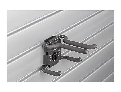 HandiWall Ski Hook with Locking Bracket for Sport Storage on Slatwall Panels