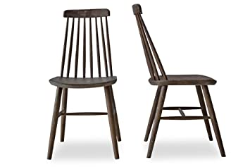 CLEO   Modern Farmhouse Dining Chairs   Spindle Back Solid Oak Wood Windsor  Chairs   Set