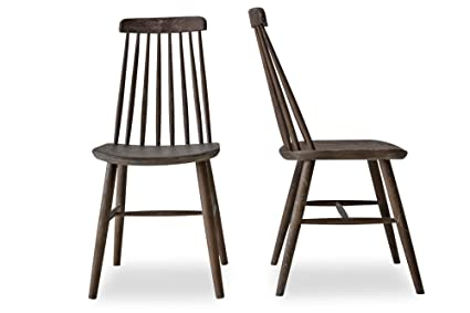 Edloe Finch CLEO   Modern Farmhouse Dining Chairs   Spindle Back Solid Oak  Wood Windsor Chairs