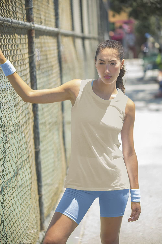 Fair Trade Organic Clothing In Touch 100/% Organic Cotton Tee Shirts Women Sleeveless Muscle Tank